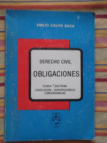 derecho civil obligaciones emilio calvo baca