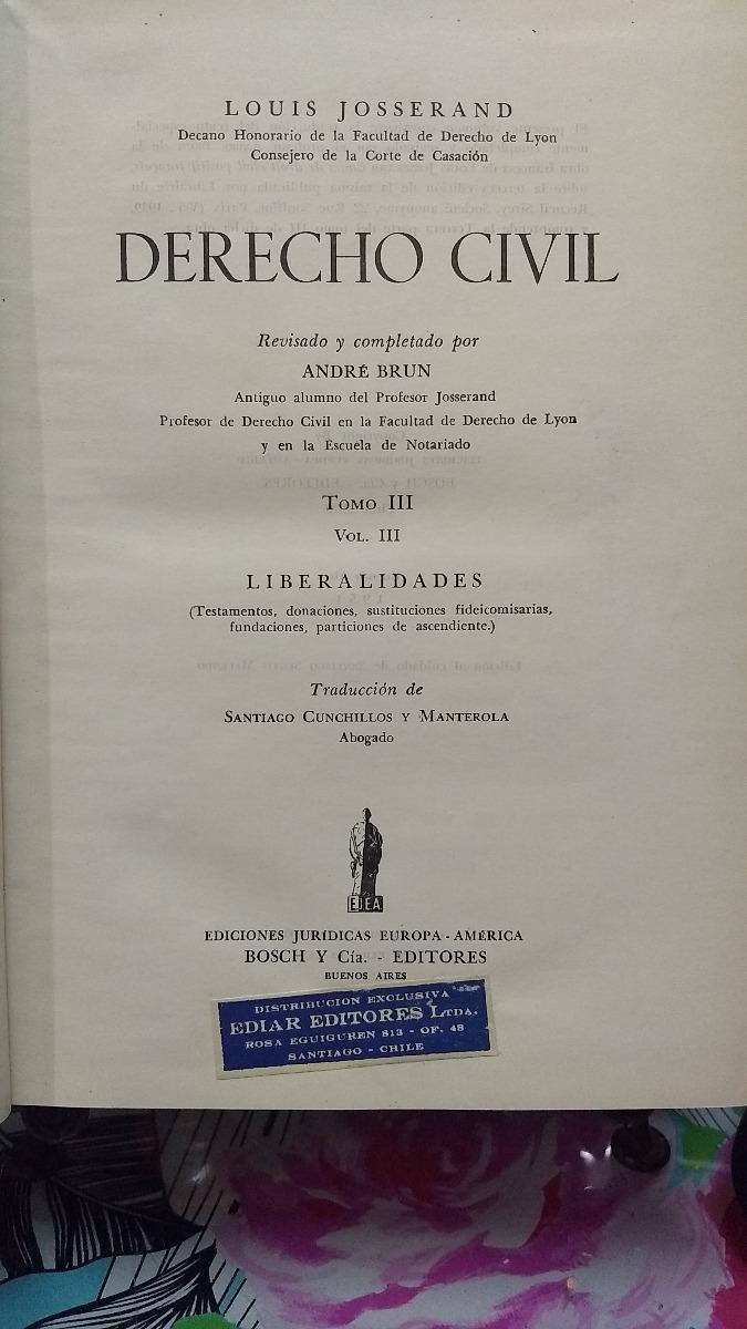 JOSSERAND LOUIS DERECHO CIVIL EBOOK