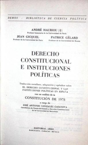 derecho constitucional e instituciones políticas, andre h.