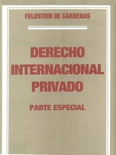 derecho internacional privado. gral y esp. biocca. cardenas
