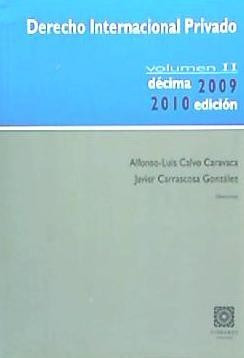 derecho internacional privado vol. ii(libro derecho privado.