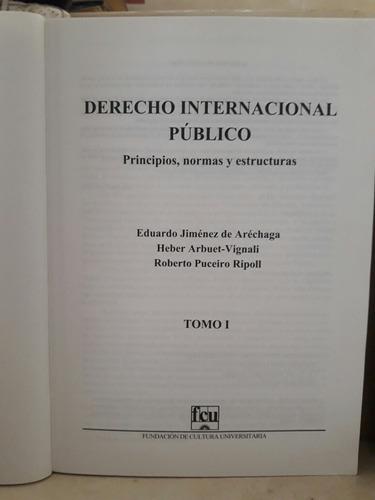 derecho internacional público. 2 tomos. jiménez de arechaga