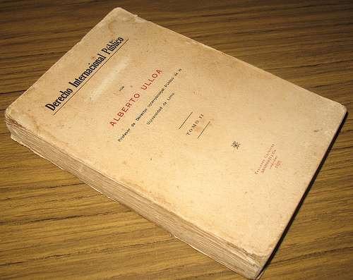 derecho internacional publico : alberto ulloa sotomayor 1929