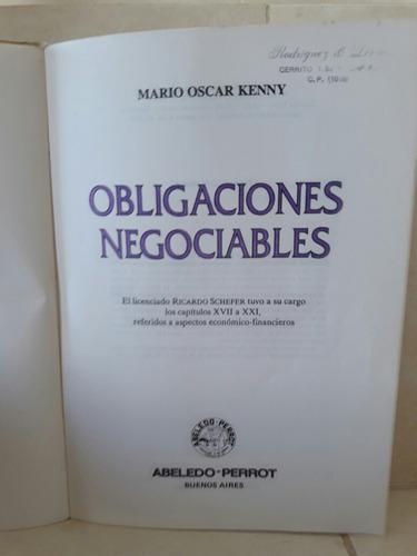 derecho. obligaciones negociables. oscar mario kenny