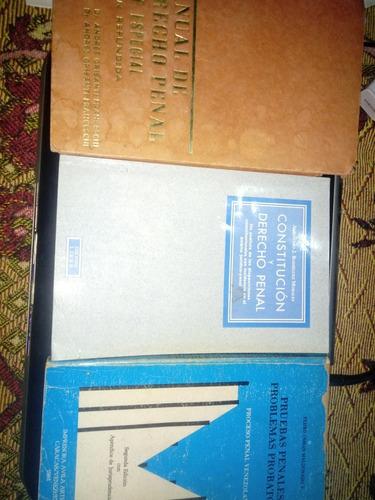 derecho penal y criminología. combo de 3 libros