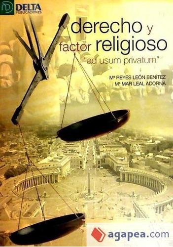 derecho y factor religioso(libro )