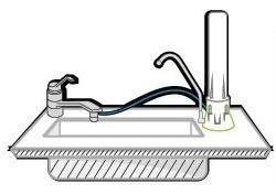 derivadora bypass de bronce cromada para filtro de agua