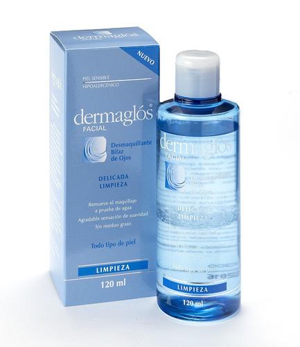 dermaglós - desmaquillante bifaz de ojos x 120 ml