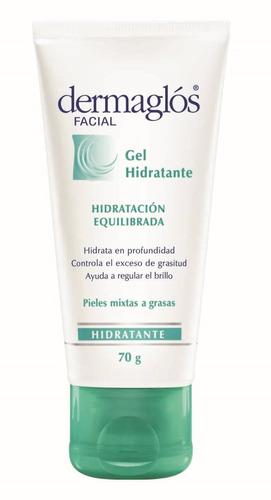 dermaglos - gel facial hidratación equilibrada x 70 grs