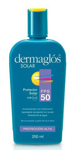 dermaglos protector solar fps50 emulsion 250ml piel sensible