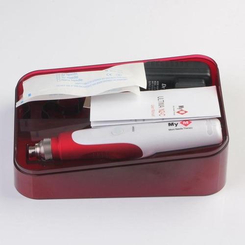 dermapen anti acne arrugas flacidez estrias manchas + 2 cart