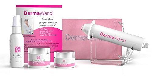 dermawand with luxury moisturizer kit - improves wrinkles