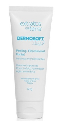 dermosoft clean peeling fitomineral facial 60g extratos