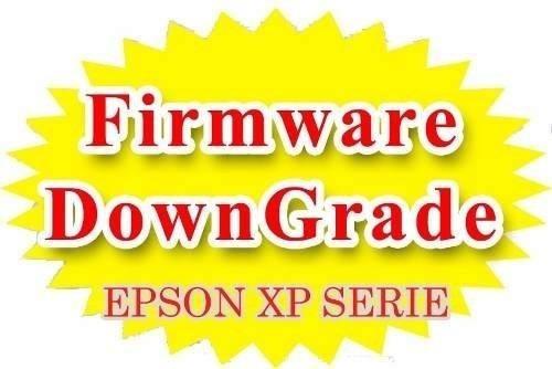 desactualizacion firmware epson serie xp