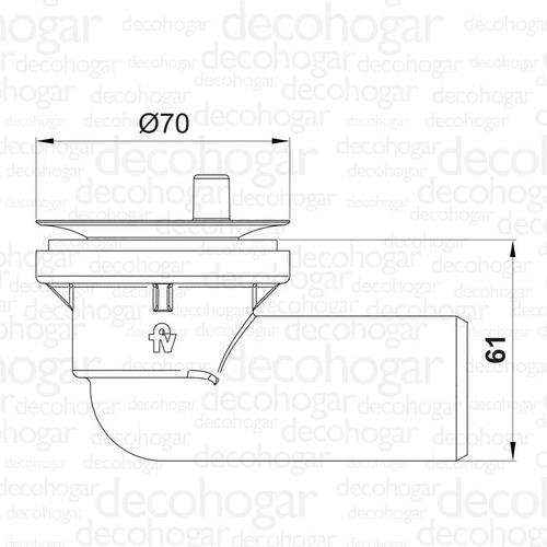 desagüe desagote sopapa bañera codo pvc 1 1/4 90º fv 0355.03