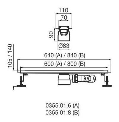 desague lineal fv 80 cm rejilla ciega reversible ai cuotas