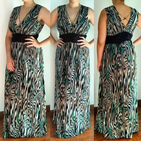 aa259fee3 Vestido De Festa Plus Size Longo Estampado - Vestidos Femininas no ...