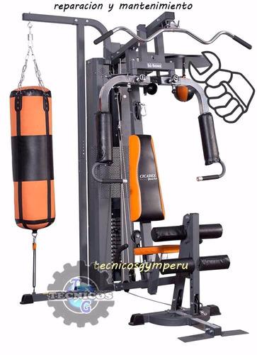 desarmado y armado de maquinas de gimnasio para traslado