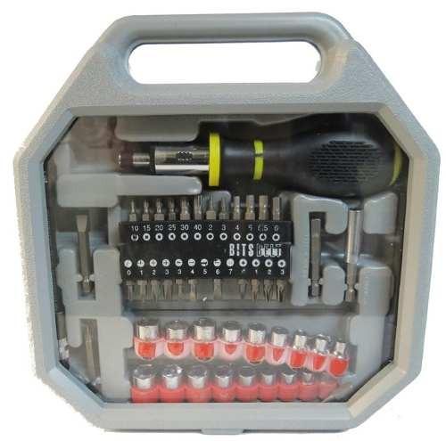 desarmador con matraca juego de 54 dados