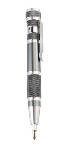 desarmador de bolsillo 8 puntas metálico portátil clip