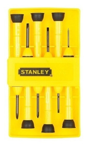 desarmador precision para joyero jgo 6 piezas 66052 stanley