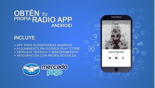 desarrollo aplicaciones de radio streaming teléfonos android