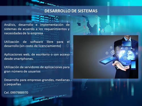 desarrollo de sistemas / software