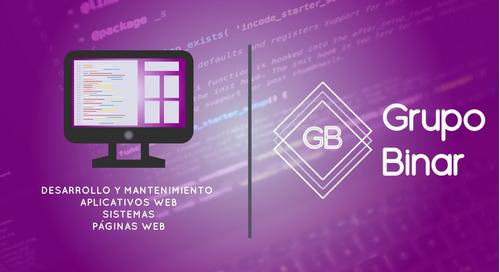 desarrollo de software y sistemas, paginas web. php, html.