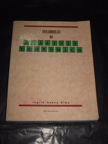 desarrollo del analisis economico - ingrid hahne rima