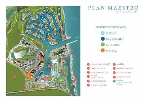 desarrollo marina. de lujo en puerto cancun. depto. de 2 recs. venta