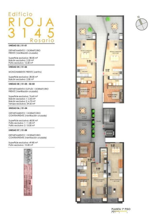 desarrollo: monoambientes - 1 - 2 dormitorios a pasos de la terminal