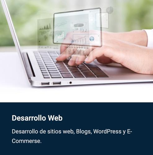 desarrollo páginas y sistemas web - wordpress - e-commerce