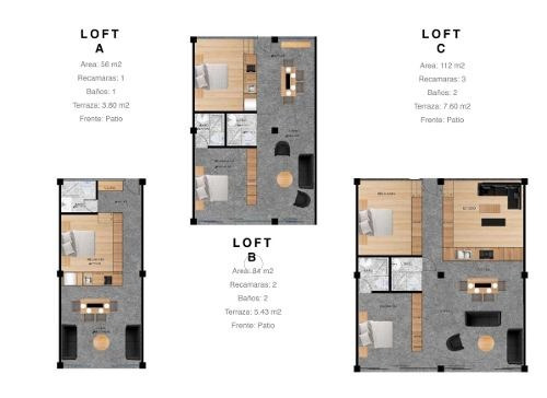 desarrollo para inversion con 35 lofts en santa maria la rivera, cuahutemoc