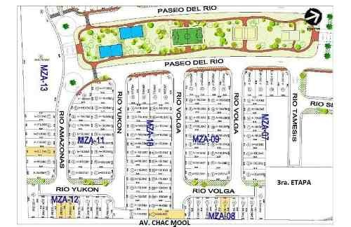 desarrollo rio residencial. terrenos en venta by cumbres. 180 m2 cuarta etapa. atrás de aqua. cancún