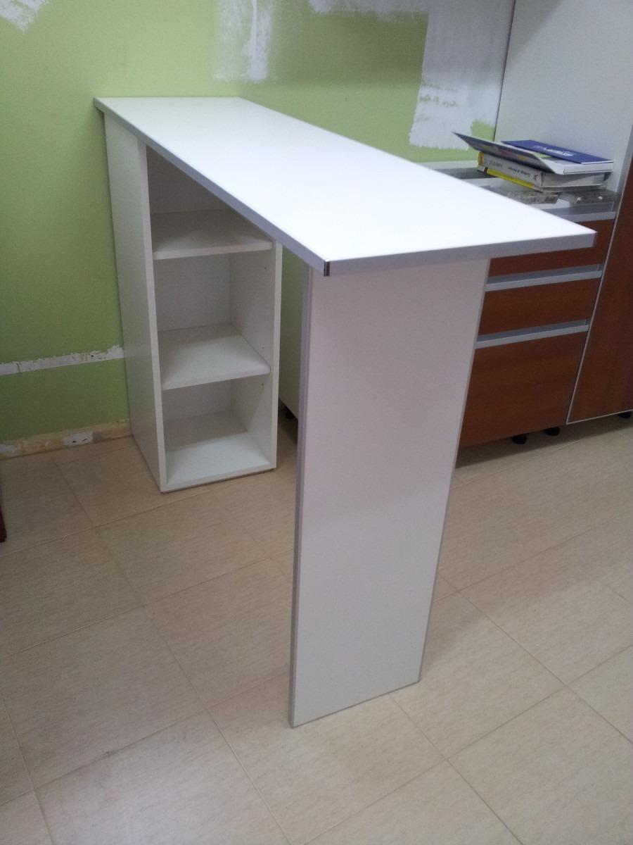 Desayunador Barra Cantos De Aluminio, Mueble Con 2 Estantes ...