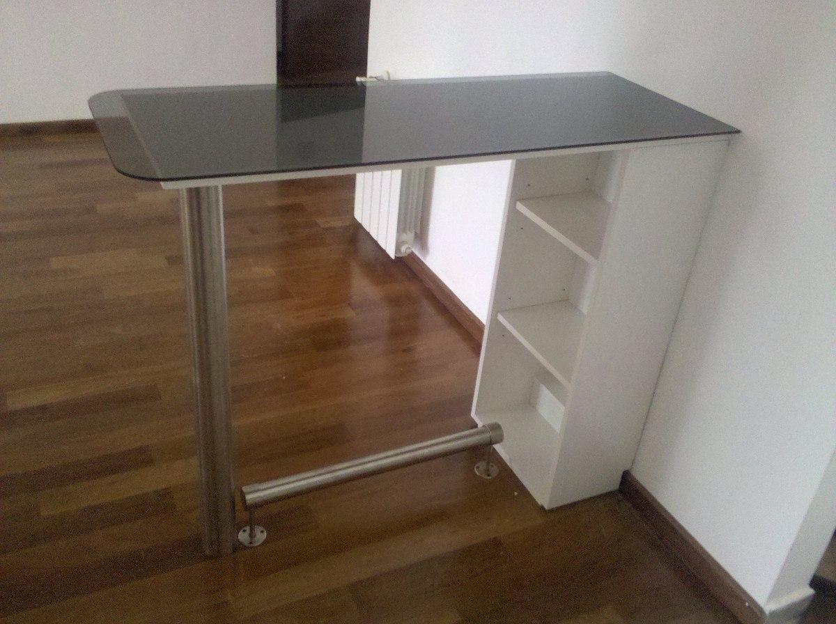 Desayunador barra columna acero inoxidable apoya pies for Articulos acero inoxidable para cocina