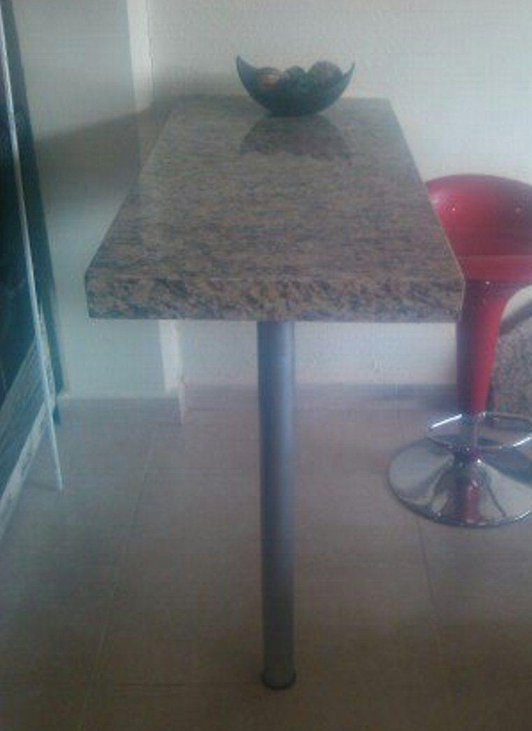 Desayunador barra de granito 3 en mercado libre for Donde venden granito
