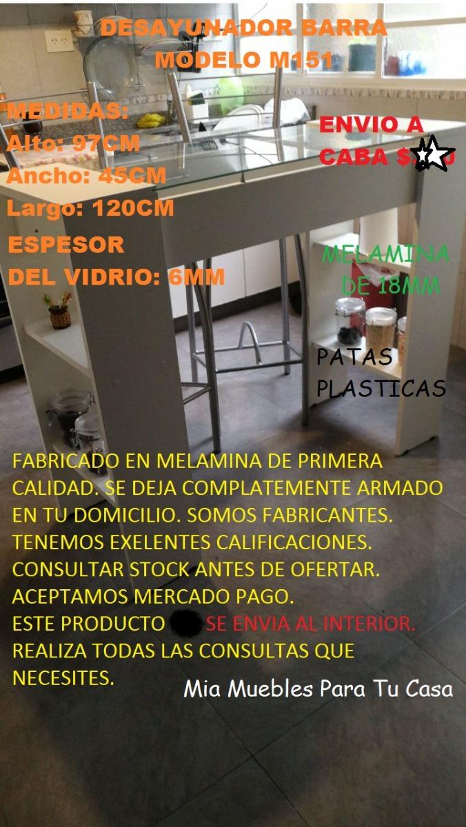 Desayunador Barra Divisor De Ambientes Cocina Mueble Oferta  # Muebles Roque Bahia Blanca