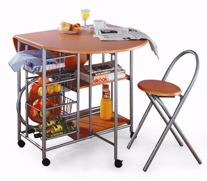 Desayunador mesa auxiliar de cocina plegable c 2 - Mesas de cocina plegables ...