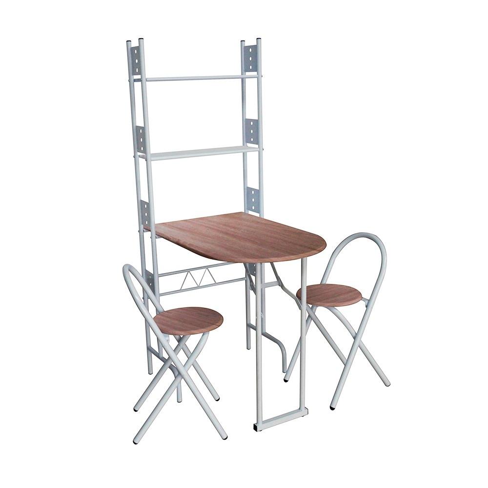 Desayunador plegable con 2 sillas base madera namaro for Sillas para desayunador