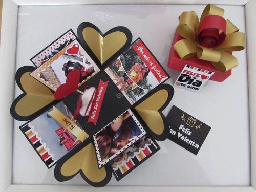 desayuno sorpresa, caja explosiva con dulces, fotos y mas..