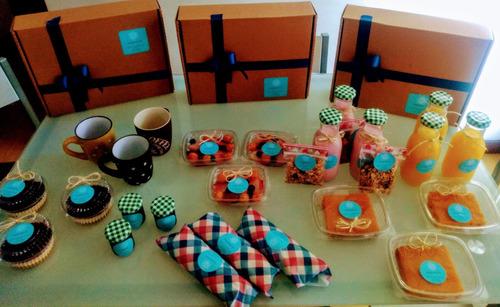 desayuno sorpresa de lujo + serenata virtual + tarjeta