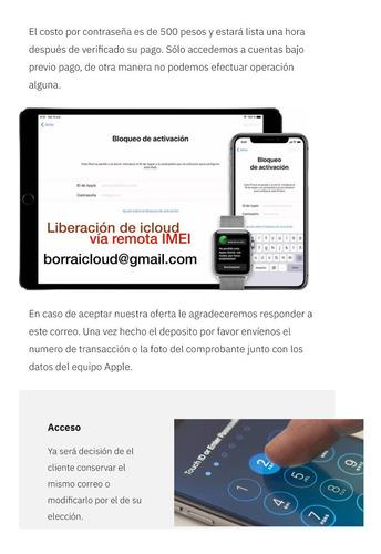desbloquea ;ippad icloud iwatch celular ipphone; bloqueado