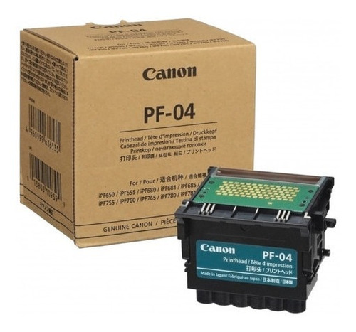 desbloqueio cabeçote de impressão canon pf-04