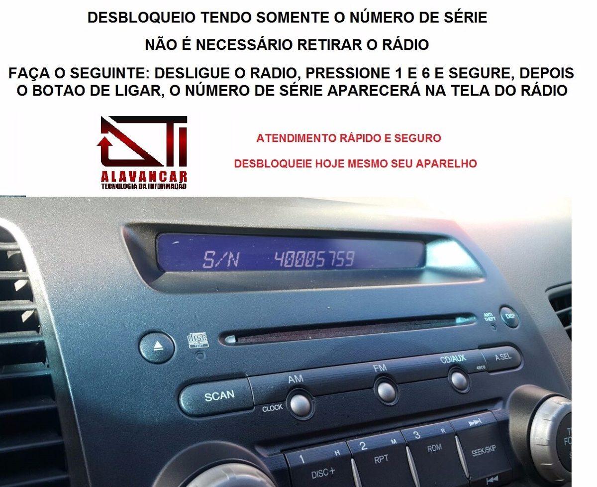 Desbloqueio Enter Code Radio Honda New Civic Pelo Serial. Carregando Zoom.