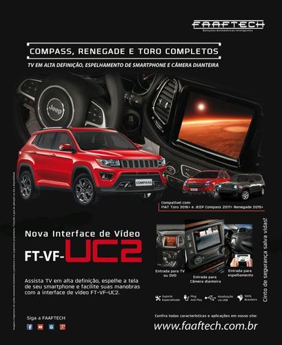 desbloqueio tela jeep compass 2016 a 2019 + tv full hd