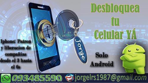 desbloqueo de celular android and iphone (del 3 al 6s)