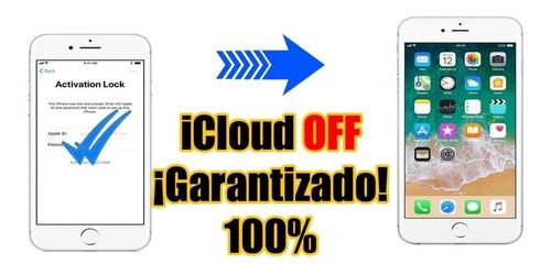 desbloqueo icloud iphone! 6,6s,7,7+ 8,8+ x y ipad unlocked