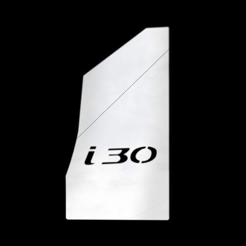 descanso de pé cromado i30 2009 2010 2011 2012 100% aço inox