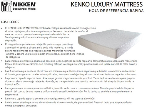 Descanso Nikken Colch 243 N Magn 233 Tico Kenko Mattress